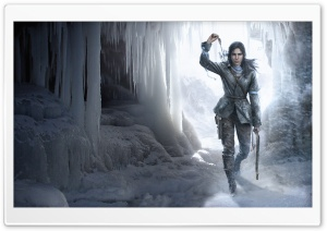Rise Of The Tomb Raider Ice Cave HD Wide Wallpaper for Widescreen