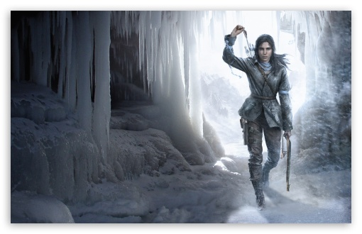 Download Rise Of The Tomb Raider Ice Cave HD Wallpaper