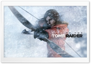 Rise Of The Tomb Raider Lara Croft Bow and Arrow HD Wide Wallpaper for Widescreen