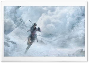 Rise of the Tomb Raider Snow Avalanche HD Wide Wallpaper for Widescreen