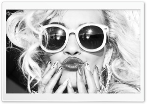 Rita Ora Black and White HD Wide Wallpaper for 4K UHD Widescreen desktop & smartphone