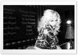 Rita Ora Black and White HD Wide Wallpaper for Widescreen