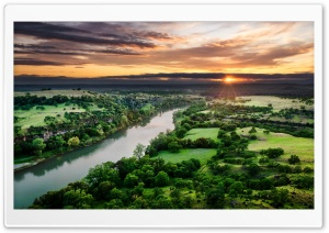 River Aerial View HD Wide Wallpaper for Widescreen