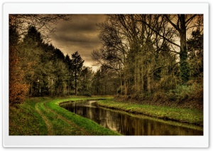 River Bend HDR HD Wide Wallpaper for Widescreen