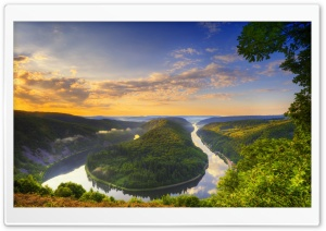 River Bend Panoramic View HD Wide Wallpaper for Widescreen