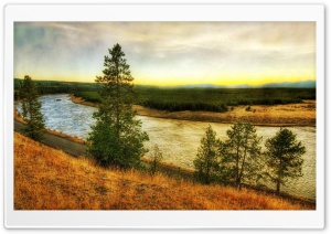 River HDR HD Wide Wallpaper for Widescreen