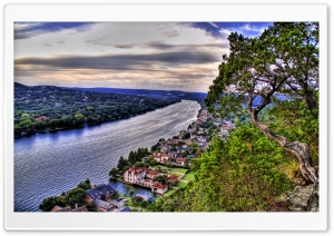 River Landscape HDR HD Wide Wallpaper for Widescreen