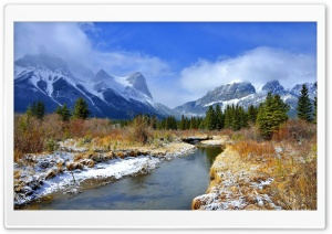 River Mountains Beauty HD Wide Wallpaper for Widescreen