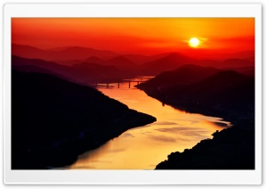River Sunset HD Wide Wallpaper for Widescreen