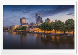 River Thames, London Ultra HD Wallpaper for 4K UHD Widescreen desktop, tablet & smartphone