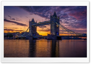 River Thames, Tower Bridge, London City Ultra HD Wallpaper for 4K UHD Widescreen desktop, tablet & smartphone