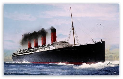 RMS Lusitania Submarine PhotoManipulation ❤ 4K UHD Wallpaper for Wide 16:10 5:3 Widescreen WHXGA WQXGA WUXGA WXGA WGA ; Mobile 5:3 16:9 - WGA 2160p 1440p 1080p 900p 720p ;