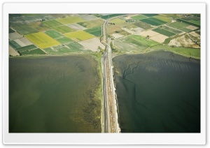 Road Aerial View HD Wide Wallpaper for Widescreen