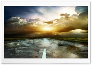 Road After Rain HD Wide Wallpaper for Widescreen