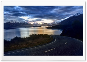 Road Along HD Wide Wallpaper for Widescreen