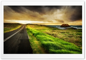 Road By The Sea HD Wide Wallpaper for Widescreen