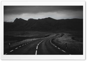 Road In Black And White HD Wide Wallpaper for Widescreen