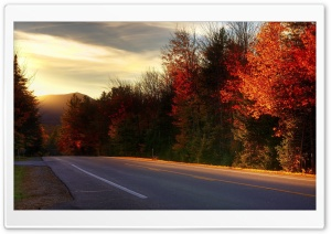 Road In New Hampshire HD Wide Wallpaper for 4K UHD Widescreen desktop & smartphone