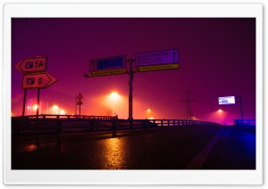 Road in the fog By Khusen Rustamov HD Wide Wallpaper for 4K UHD Widescreen desktop & smartphone