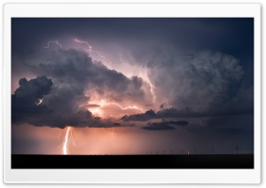 Road Lightning HD Wide Wallpaper for Widescreen