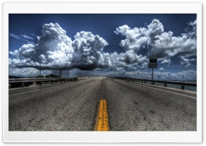 Road Near Ocean HD Wide Wallpaper for Widescreen