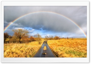 Road Rainbow HD Wide Wallpaper for Widescreen