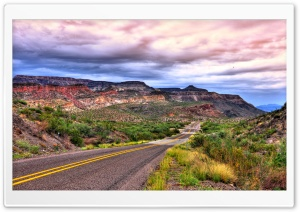 Road To Big Bend National Park HD Wide Wallpaper for Widescreen