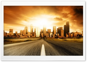 Road To City HD Wide Wallpaper for Widescreen