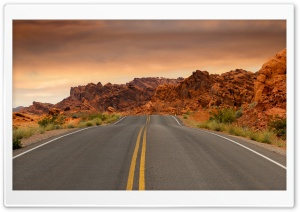 Road to Las Vegas HD Wide Wallpaper for 4K UHD Widescreen desktop & smartphone