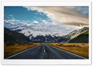 Road To Mount Cook HD Wide Wallpaper for 4K UHD Widescreen desktop & smartphone