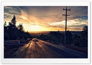 Road to sunset HD Wide Wallpaper for 4K UHD Widescreen desktop & smartphone
