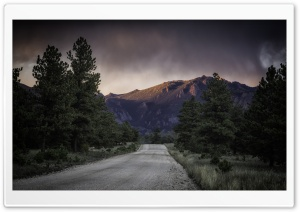 Road To The Mountains, Dark Sky HD Wide Wallpaper for 4K UHD Widescreen desktop & smartphone