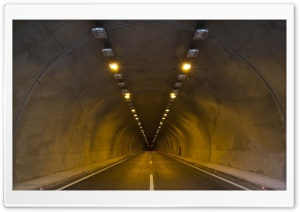 Road Tunnel HD Wide Wallpaper for Widescreen