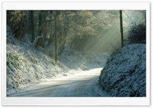 Road Turn, Winter HD Wide Wallpaper for Widescreen