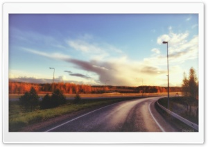 Road View HD Wide Wallpaper for Widescreen
