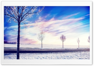 Road, Winter HD Wide Wallpaper for Widescreen