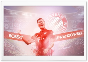 Robert Lewandowski Bayern HD Wide Wallpaper for Widescreen