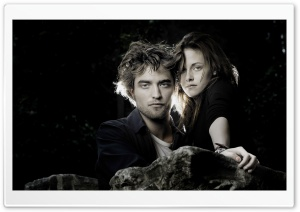 Robert Pattinson and Kristen Stewart HD Wide Wallpaper for Widescreen