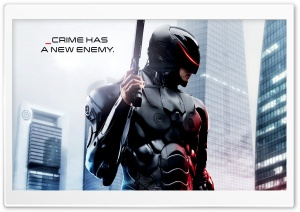 Robocop _crime has a new enemy HD Wide Wallpaper for Widescreen