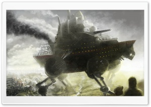Robot Boat Fantasy HD Wide Wallpaper for Widescreen