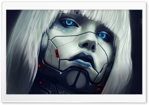 Robot Face HD Wide Wallpaper for Widescreen