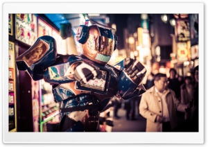 Robots in the Streets of Tokyo HD Wide Wallpaper for 4K UHD Widescreen desktop & smartphone