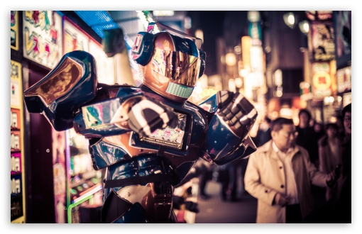 Robots in the Streets of Tokyo HD wallpaper for Wide 16:10 5:3 Widescreen WHXGA WQXGA WUXGA WXGA WGA ; HD 16:9 High Definition WQHD QWXGA 1080p 900p 720p QHD nHD ; UHD 16:9 WQHD QWXGA 1080p 900p 720p QHD nHD ; Standard 4:3 5:4 3:2 Fullscreen UXGA XGA SVGA QSXGA SXGA DVGA HVGA HQVGA devices ( Apple PowerBook G4 iPhone 4 3G 3GS iPod Touch ) ; Tablet 1:1 ; iPad 1/2/Mini ; Mobile 4:3 5:3 3:2 16:9 5:4 - UXGA XGA SVGA WGA DVGA HVGA HQVGA devices ( Apple PowerBook G4 iPhone 4 3G 3GS iPod Touch ) WQHD QWXGA 1080p 900p 720p QHD nHD QSXGA SXGA ;