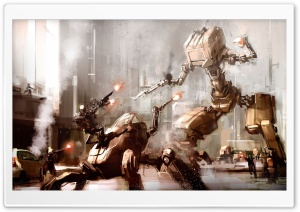 Robots War HD Wide Wallpaper for Widescreen