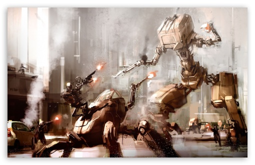 Download Robots War UltraHD Wallpaper