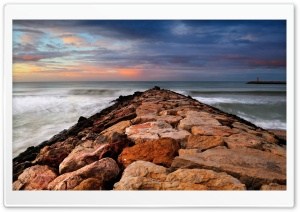 Rock Breakwater HD Wide Wallpaper for 4K UHD Widescreen desktop & smartphone