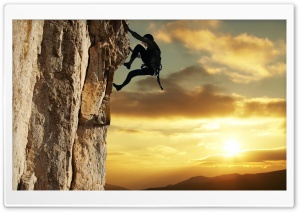 Rock Climbing HD Wide Wallpaper for Widescreen