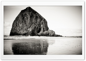 Rock In Black And White HD Wide Wallpaper for Widescreen