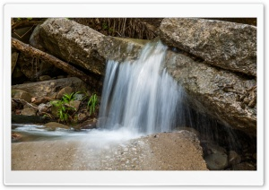 Rock Waterfall HD Wide Wallpaper for Widescreen