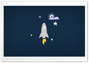 Rocket Button Moon HD Wide Wallpaper for Widescreen